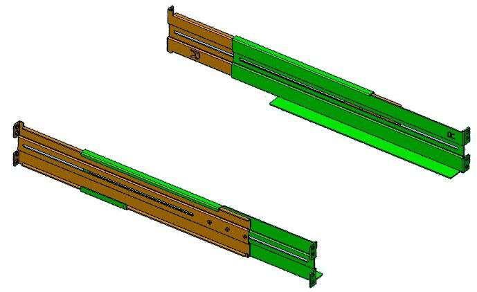 Zestaw szyn RK7 do szaf RACK 19 dla zasilaczy UPS PowerWalker 10132004