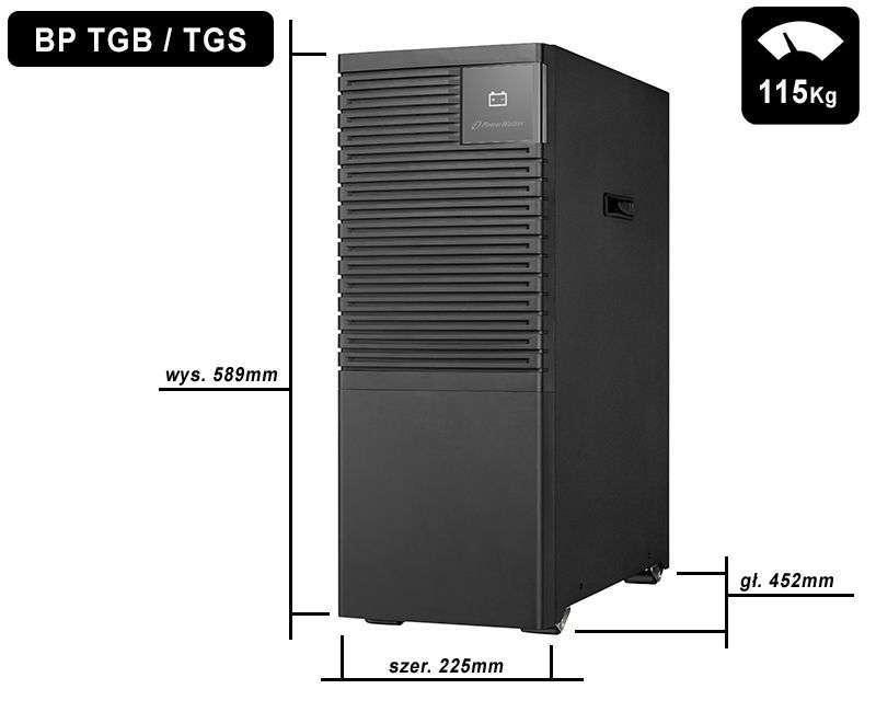 Battery Pack SA240T-40x9Ah PowerWalker BP 10134039 wymiary i waga