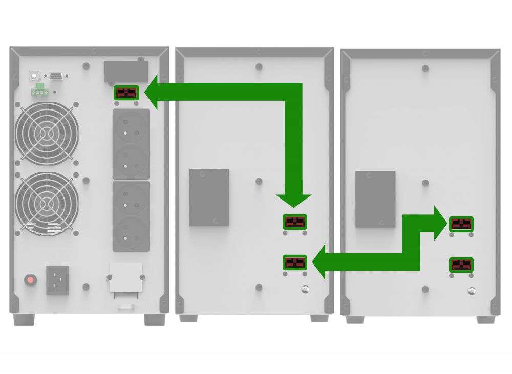 Battery Pack AT24T-4x9Ah PowerWalker BP 10134046 schemat podłączenia