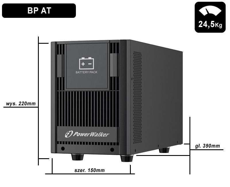 Battery Pack AT48T-8x9Ah PowerWalker BP 10134047 wymiary i waga