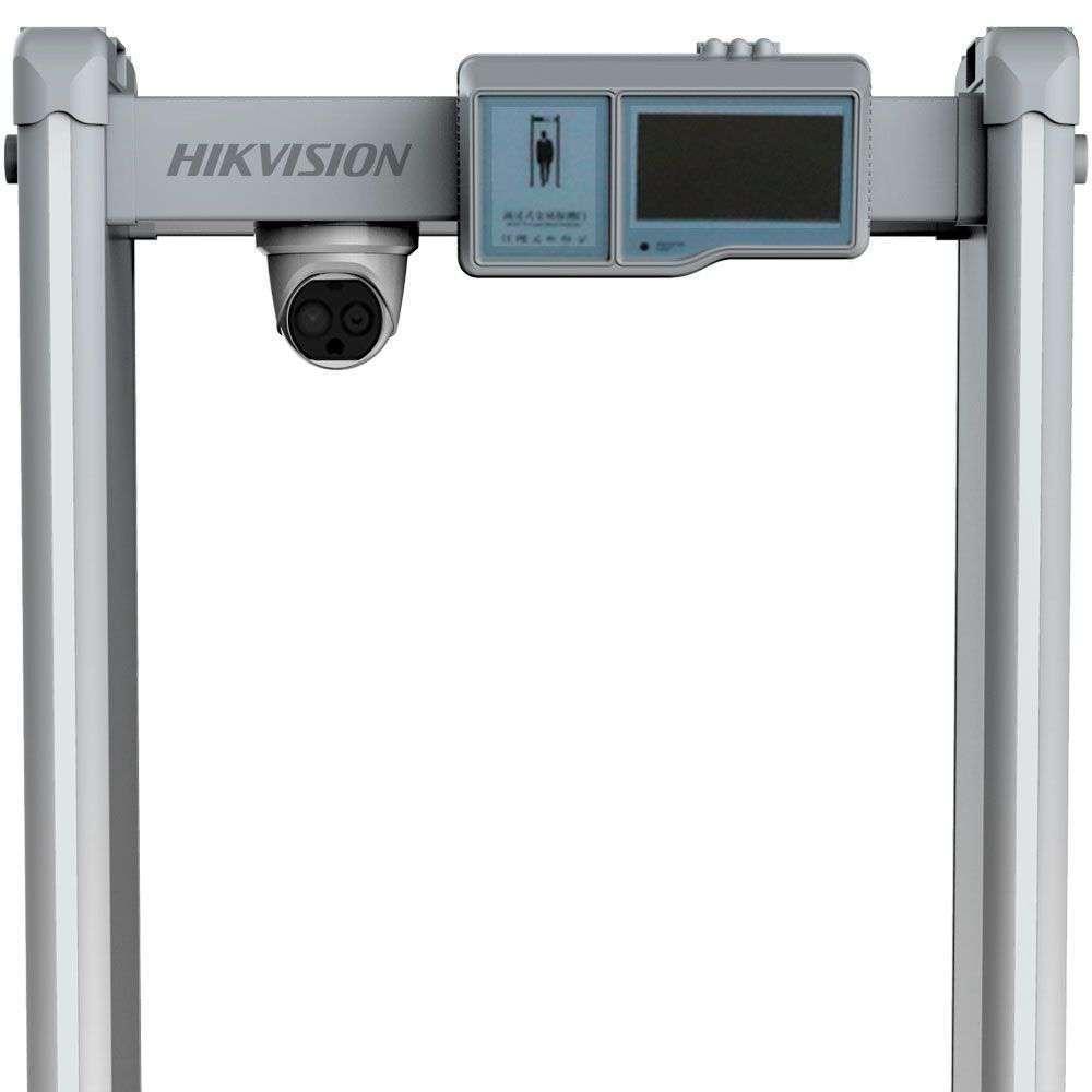 Bramka pomiaru temperatury ciała & wykrywacz metali ISD-SMG318LT-F HikVision