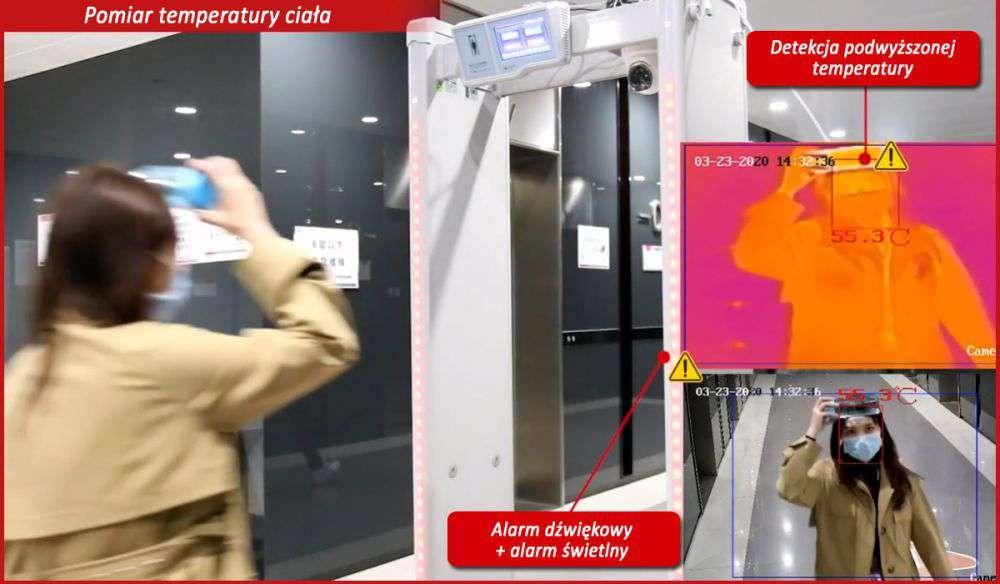 ISD-SMG318LT-F HikVision pomiar temperatura podwyższona