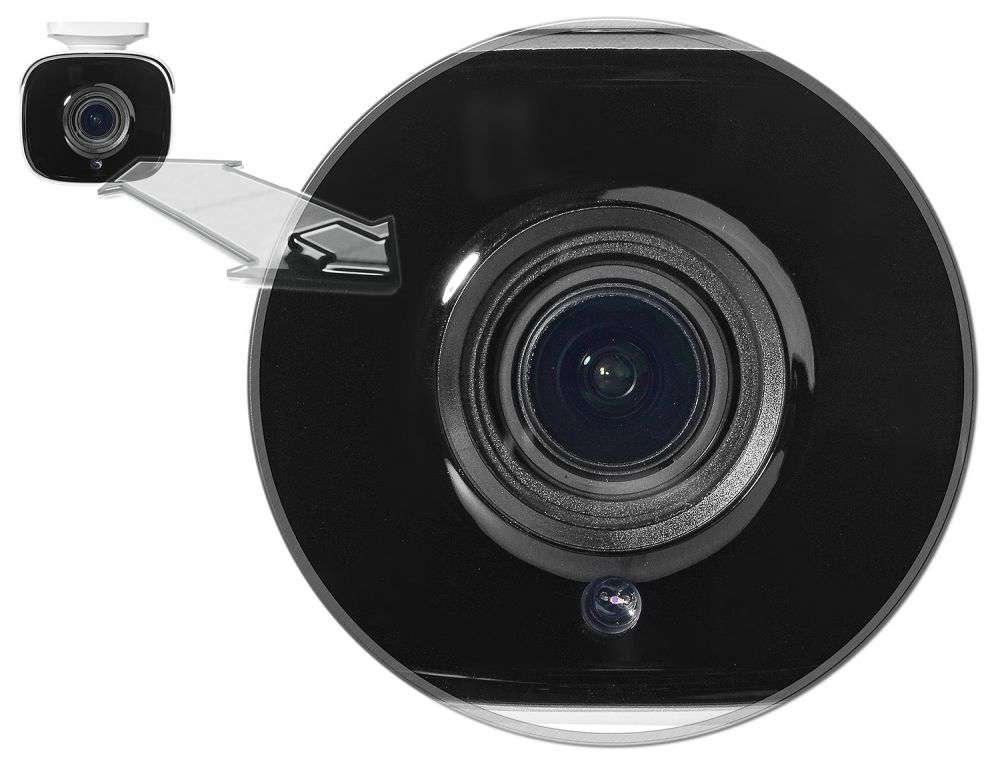 oświetlacz: 4 diody SMART IR LED Black Glass (zasięg do 70m)