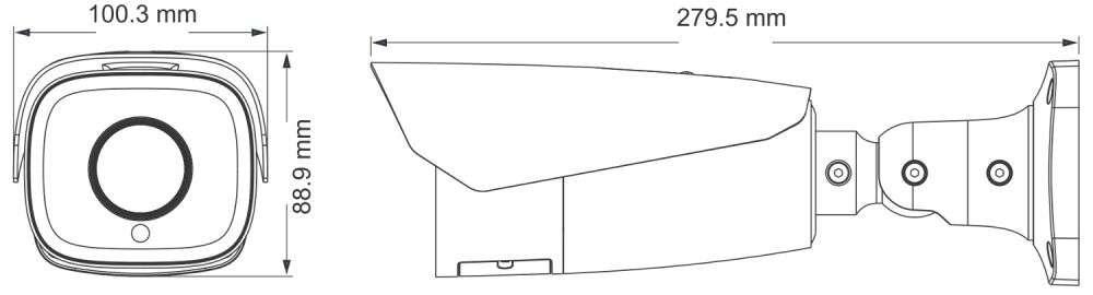 wymiary kamer ipox PX-TZIP4012IR5AI