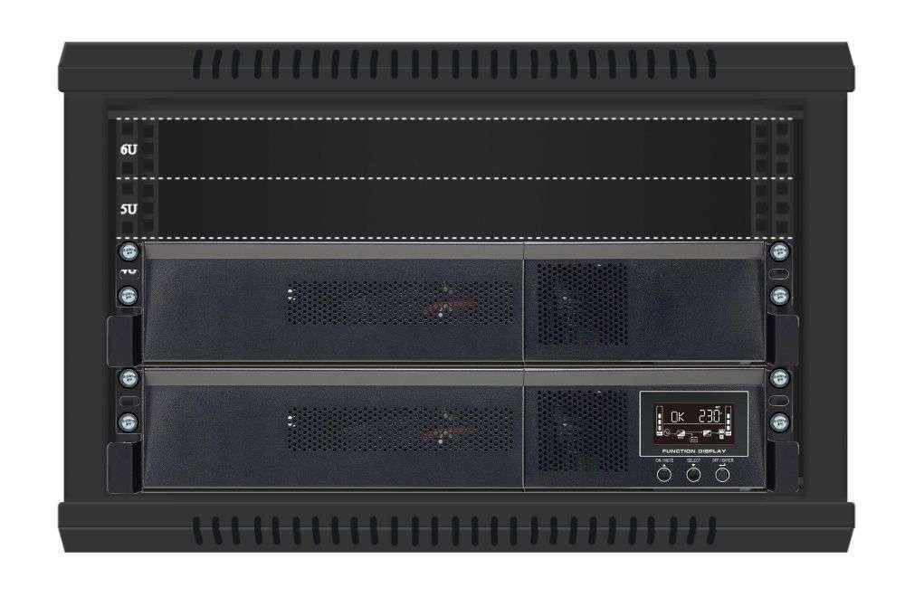 2w1 Zestaw zasilania awaryjnego UPS VFI 1000 RMG PF1 + BP A36RM-6x9Ah (10120548)