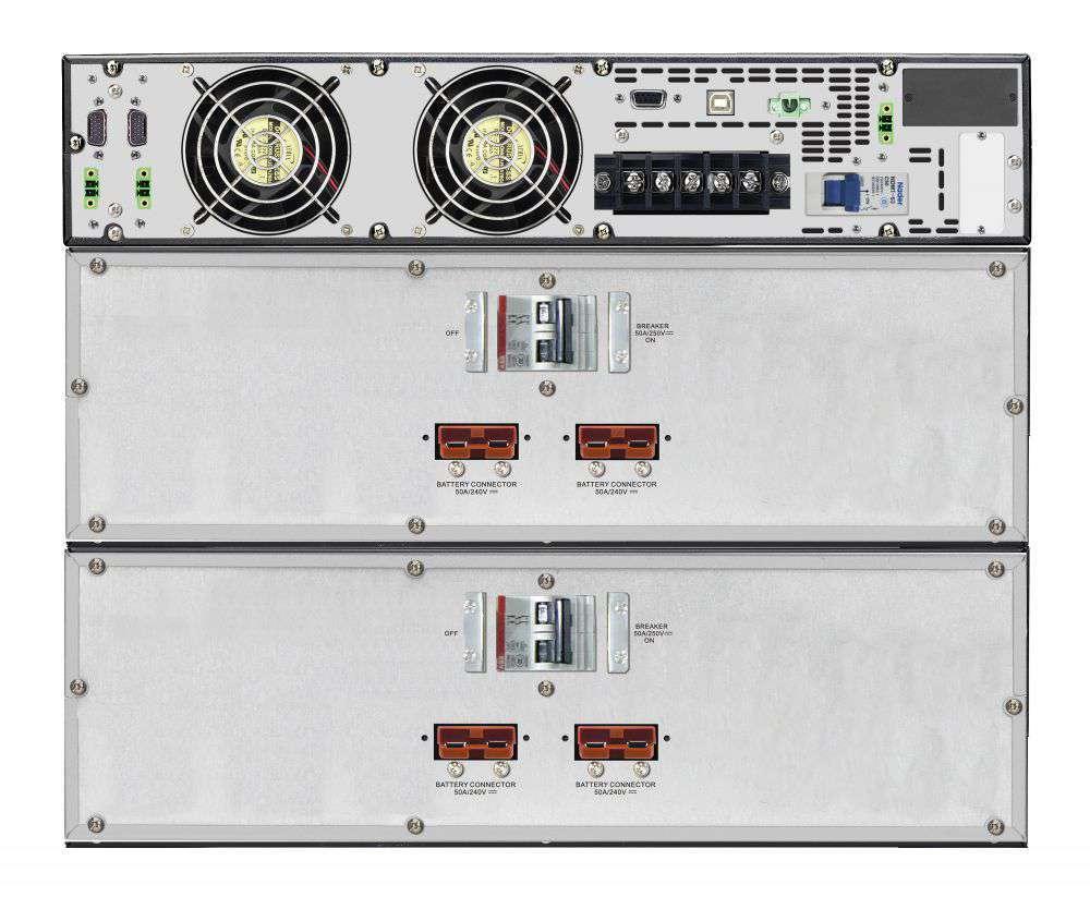 2w1 Zestaw zasilania awaryjnego UPS VFI 10000 RMG PF1 + BP A240R-20x9Ah (10120532)