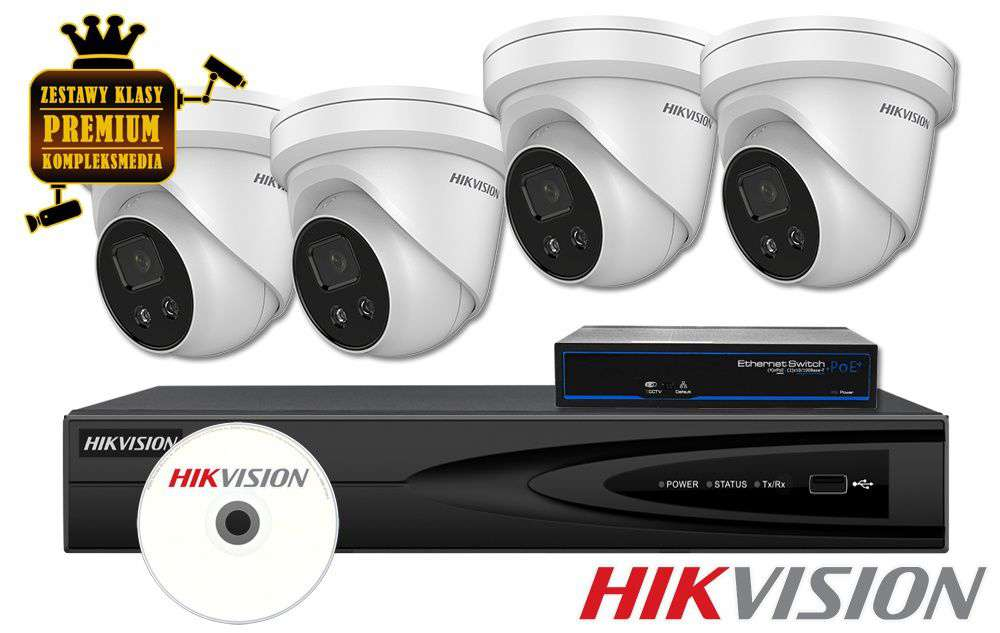 Zestaw do monitoringu IP ZMIP-HIK4KD80/DF (8MPX) HikVision