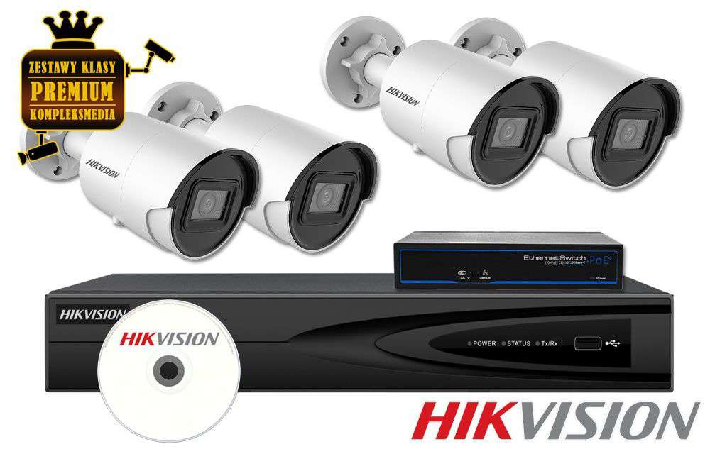 Zestaw do monitoringu IP ZMIP-HIK4KB80/DF (8MPX) HikVision