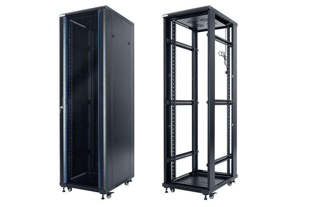 """Szafa Rack 19"""" 42U 600x600 START.LAN STLFSC-42U-66-GSB"""