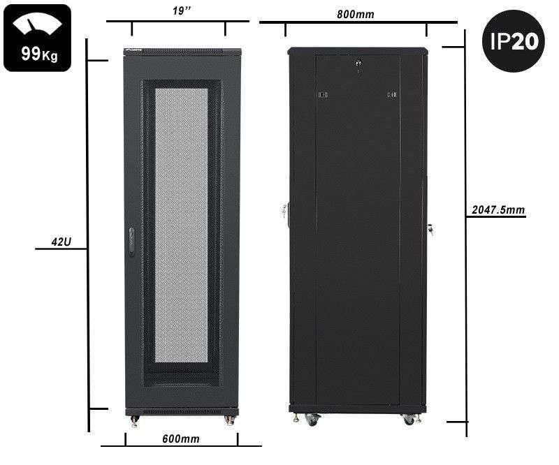 waga i wymiary szafy 42u rack 19 lanberg ff01-6842-23b