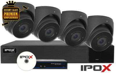 Zestaw do monitoringu IP ZMIP-IPO4KD40G/AI (4MPX) IPOX