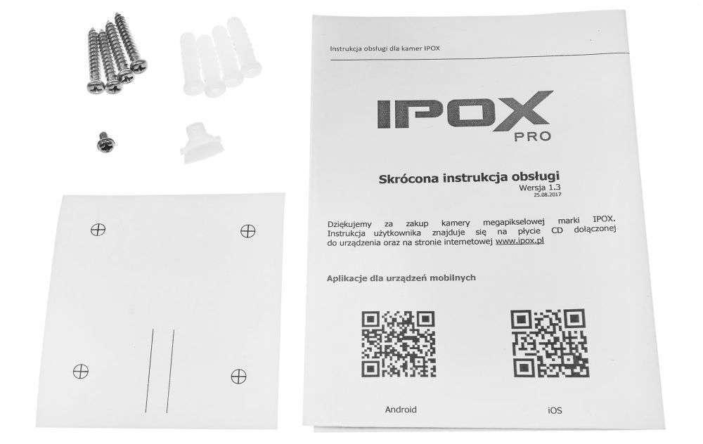 zawartość opakowania ipox pro PX-TI4036IR3