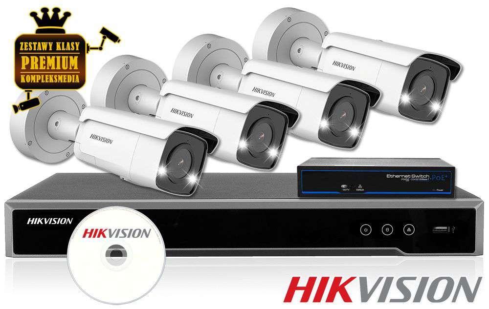 Zestaw monitoringu HIKVISION IP 4MPX AcuSense Strobo Light BULLET