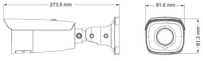 wymiary kamer ipox PX-TZIP4022IR7
