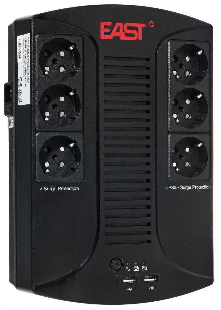 Zasilacz awaryjny UPS 650VA/390W UPS650-D-LI/LED EAST