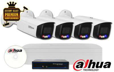 Zestaw monitoringu DAHUA IP Full Color 8MPX WizSense SMD+ TiOC