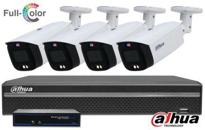 Zestaw monitoringu DAHUA IP Full Color 5MPX WizSense SMD+ TiOC Bullet