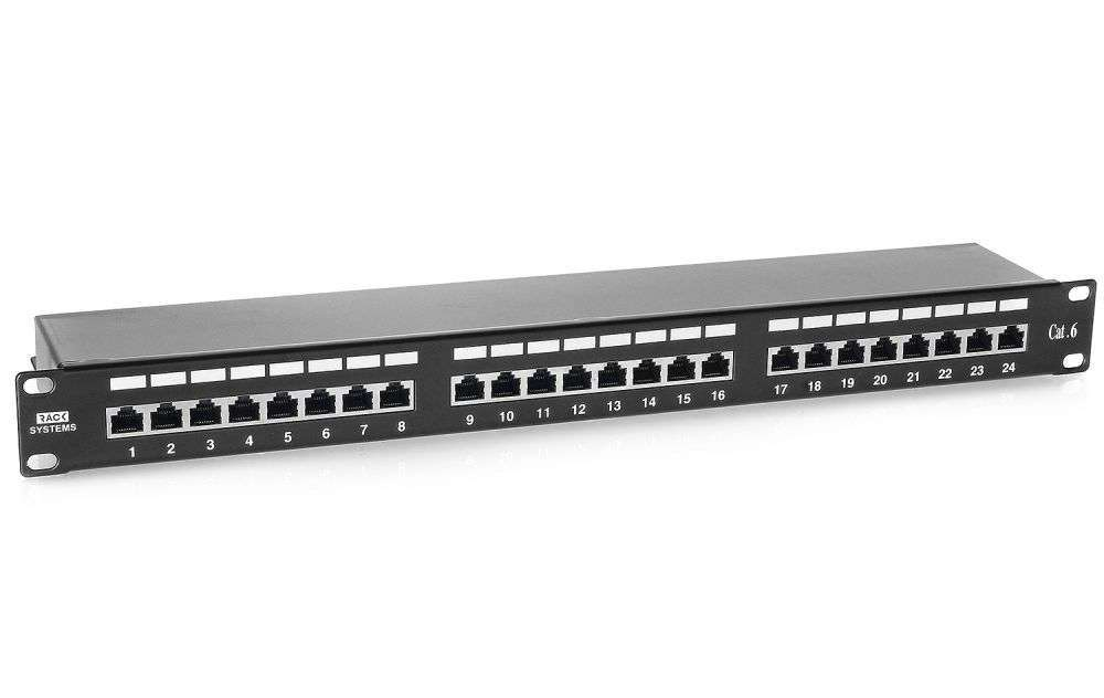 24 portowy ekranowany patch panel FTP Cat.6 PP24B/6 Rack Systems