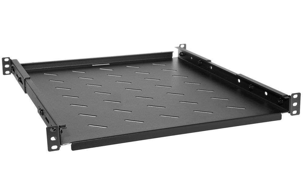 1U / 550mm - Uniwersalna półka PWR800 RACK SYSTEMS czarna RAL9005