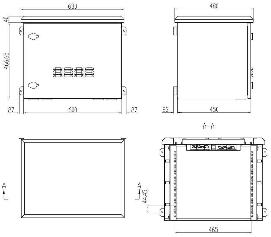 rzeczywiste wymiary szafy hermetycznej