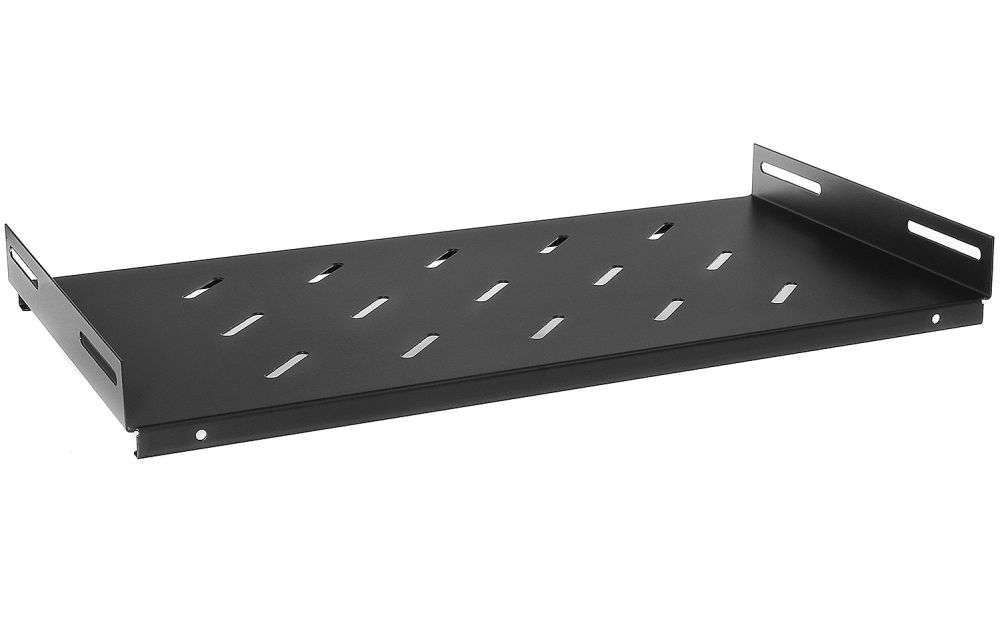 Stała półka głębokości 250mm PZ450 RACK SYSTEMS czarna RAL 9005
