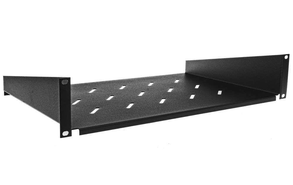 2U / 300mm - Uniwersalna półka PD450 RACK SYSTEMS czarna RAL9005