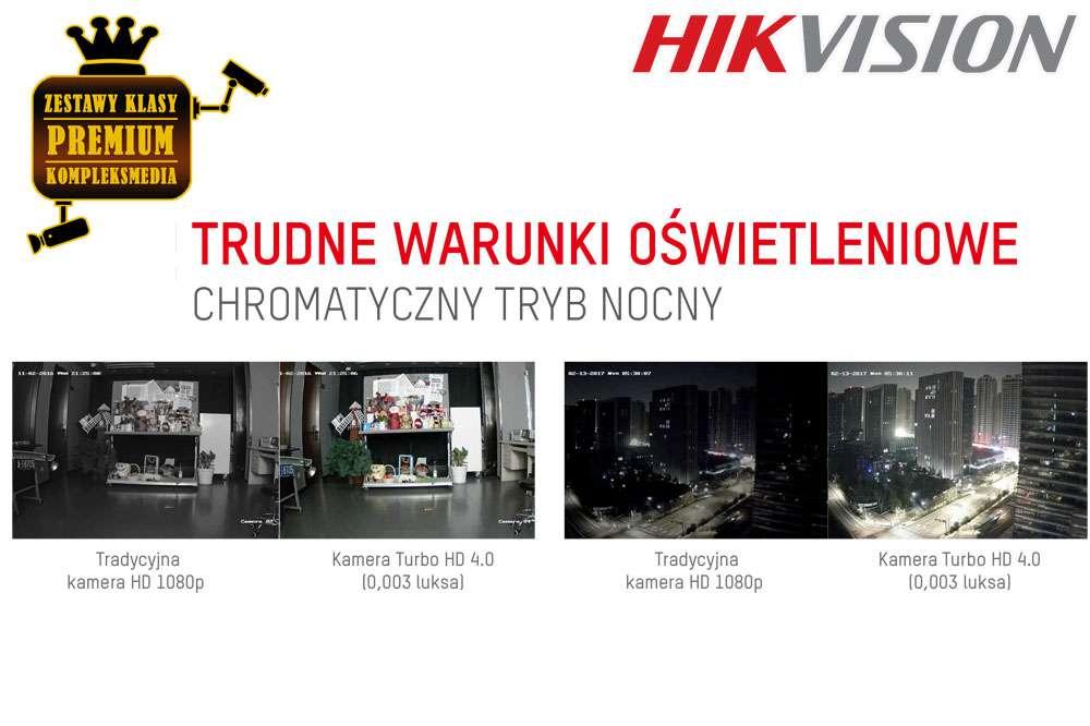monitoring w nocy nocny hikvision