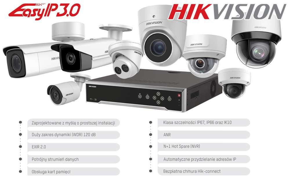 Monitoring sieciowy IP marki Hikvision EasyIP 3.0