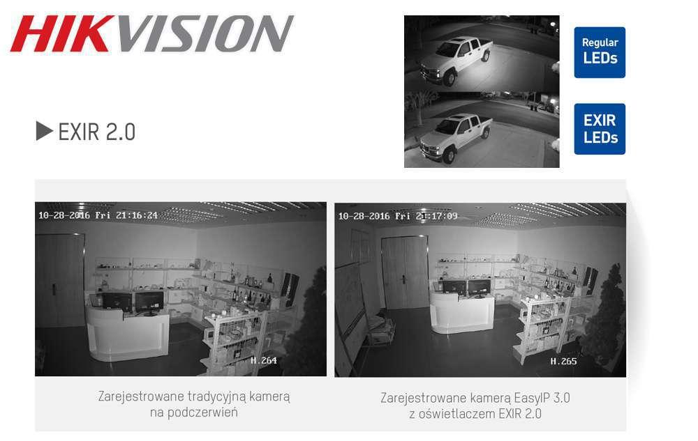 promiennik podczerwieni ir led exir 2.0 hikvision monitoring nocny