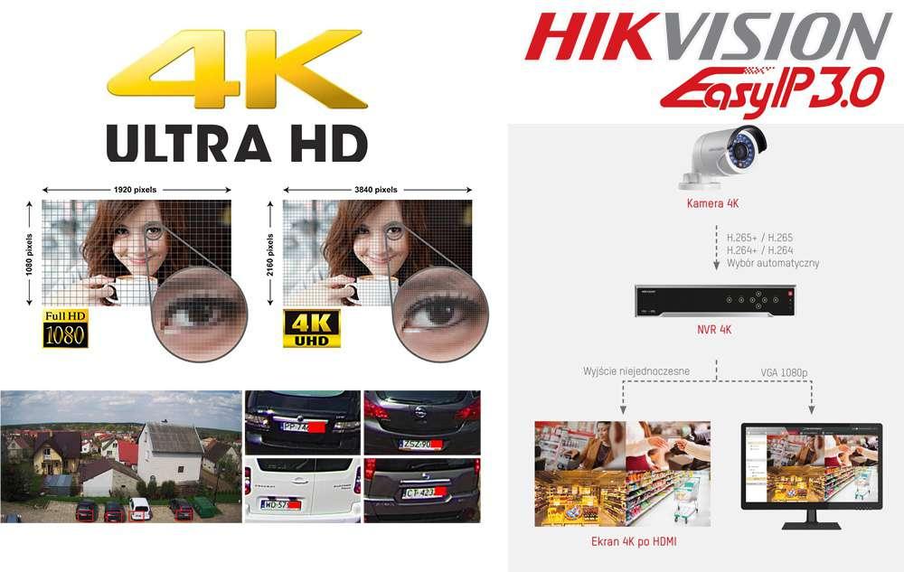 monitoring 4k kamery 4k uhd ultra hd high definition hikvision